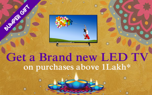 Get a brand new led tv on purchases above 1 lakh*