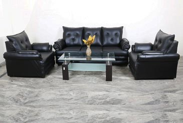 5 Seater Black Sofa