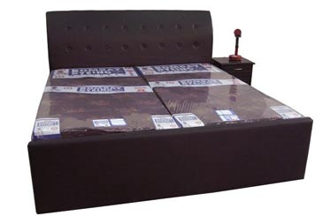 Leatherite Double Bed