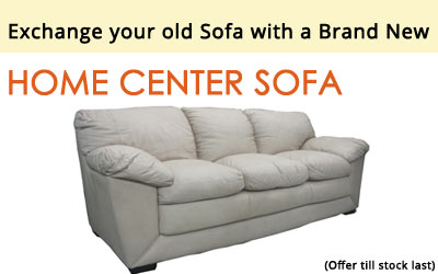 Exchange your old sofa with a brand new