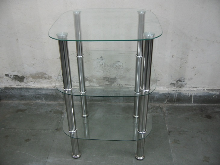 2 Glasss Side Tables
