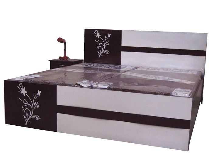 2 Flower Double Bed With Mattress