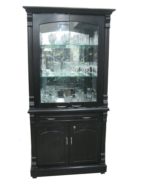 Crockery Cabinet Cum Bar Used Furniture For Sale