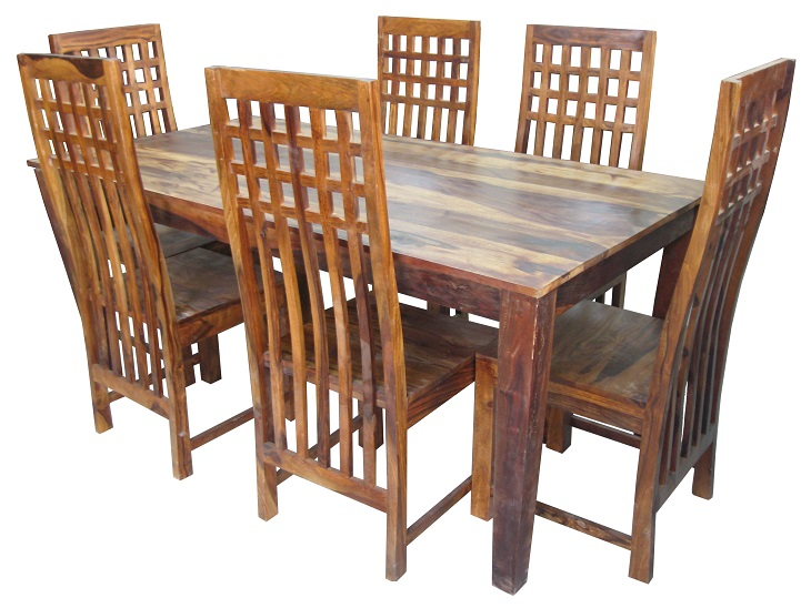 Sheesham Wood 6 Seater Dining Table