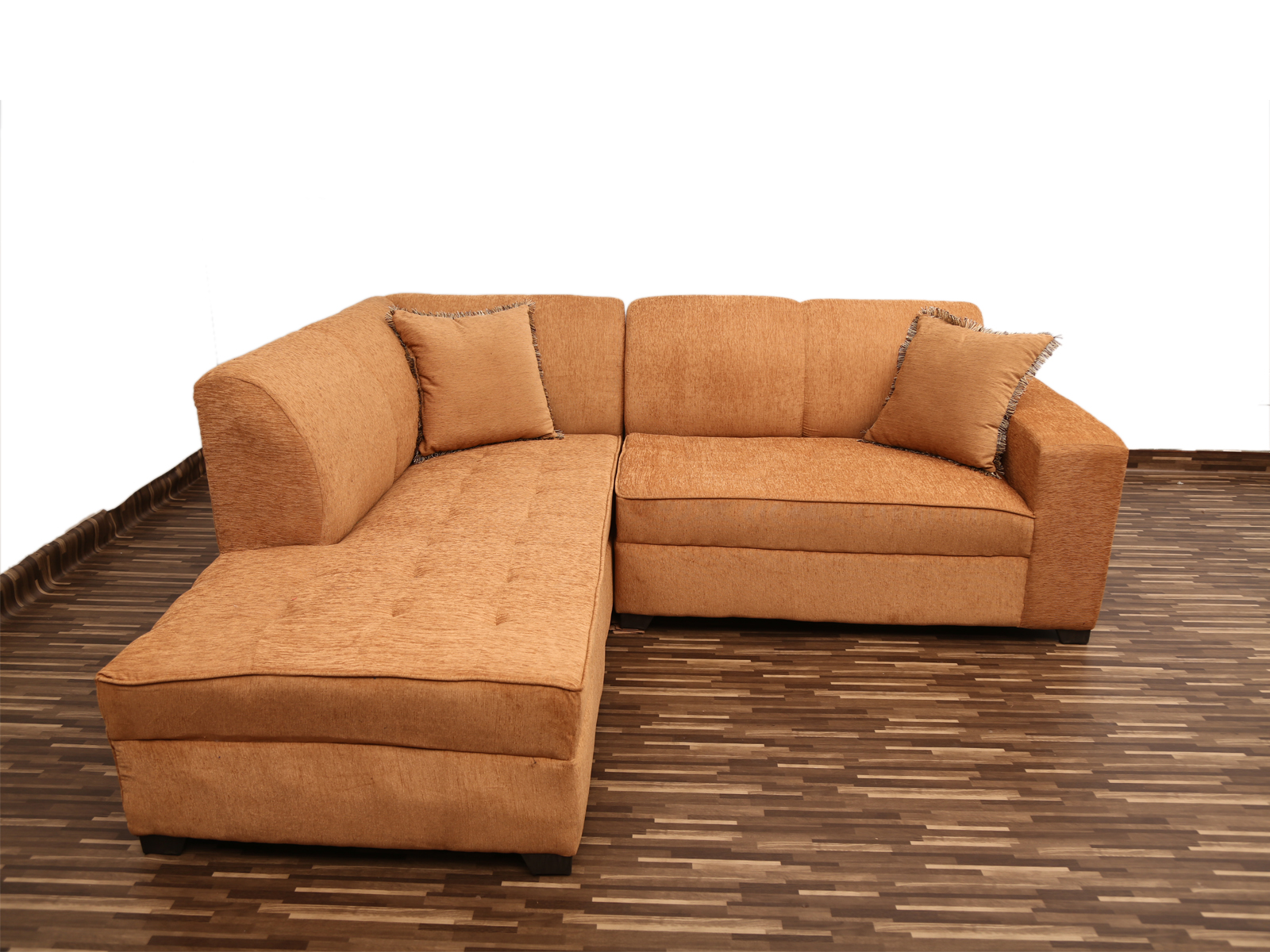 beige l shape sofa with settee 1403