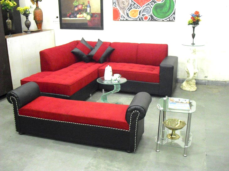 L Shaped Sofa With Settee Used Furniture For Sale