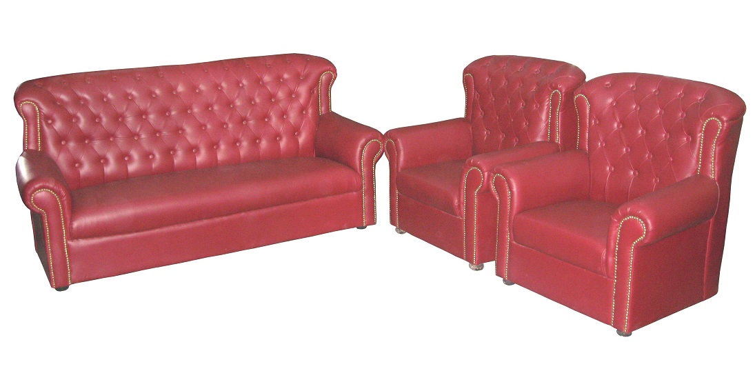 5 Seater Red Maharaja Sofa | Used Furniture for Sale
