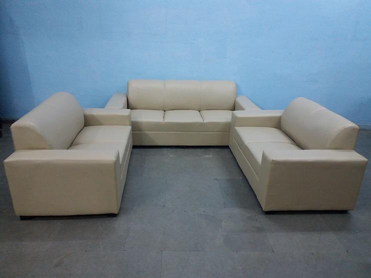 7 Seater Cream Sofa Set Used Furniture For Sale