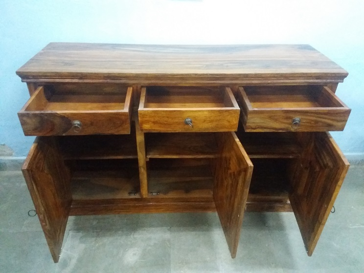 sheesham wood led cabinet used furniture for sale