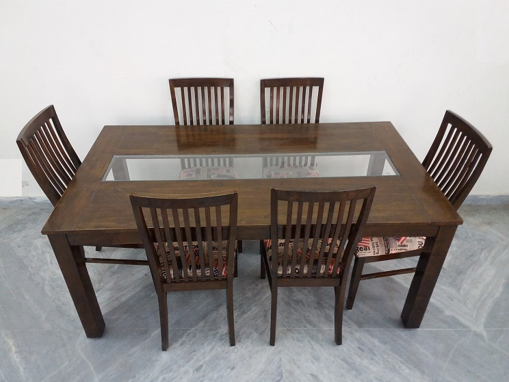 Teak Wood Dining Table 6 Chair Used Furniture for Sale : 1616 teak wood dining table 6 chair2 from usedfurnitures.in size 744 x 558 jpeg 119kB