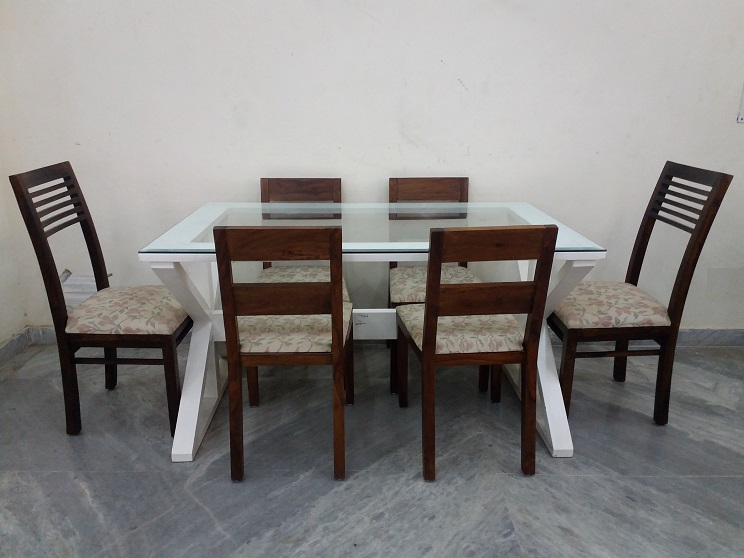used glass top dining table for sale in hyderabad 28  : 1618 glass top 6 seater dining table2 from americanhomesforsale.us size 744 x 558 jpeg 110kB