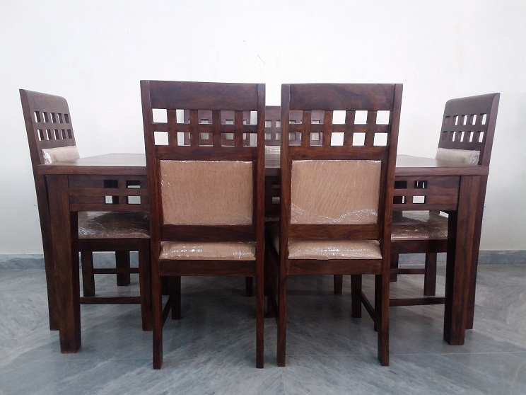 6 Chair Sheesham Dining Table