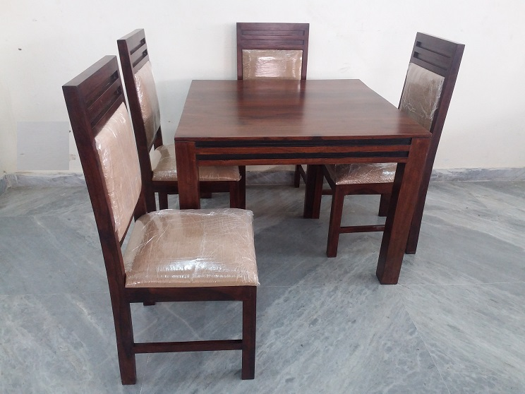 Sheesham Wood 4 Chair Dining