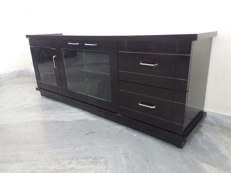 Low Height Tv Cabinet Glass Top Used Furniture For Sale