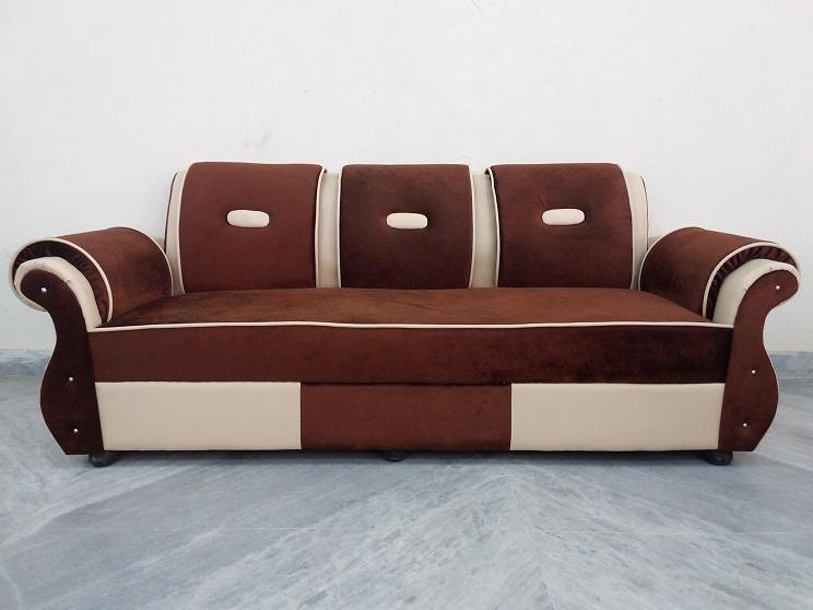 5 Seat Fabric Amp Leather Sofa Used Furniture For Sale