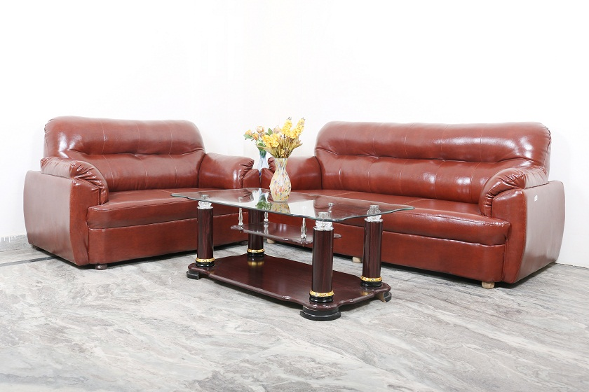 7 Seater Leather Sofa | Used Furniture for Sale