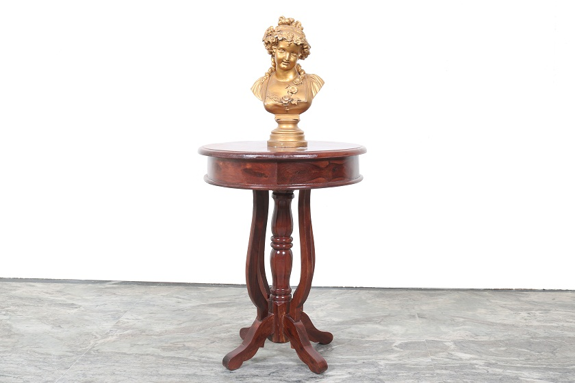 Solid Wood Side Table Round