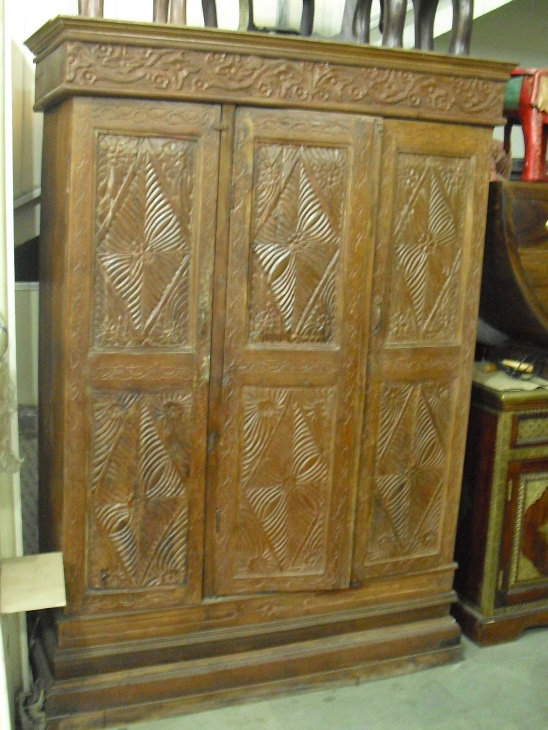 Solid Wood Almirah 2 Used Furniture For Sale