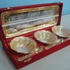 second handGold Plated 3 Bowl Set