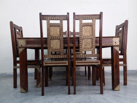 used Solid & Brass Fitted Dining Set