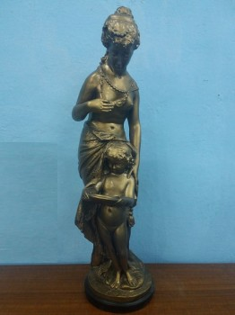 used Lady with Son Statue