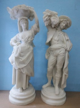 used Roman Couple Marble Statue