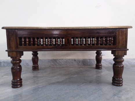 used Antique Brass Fitted Center Table