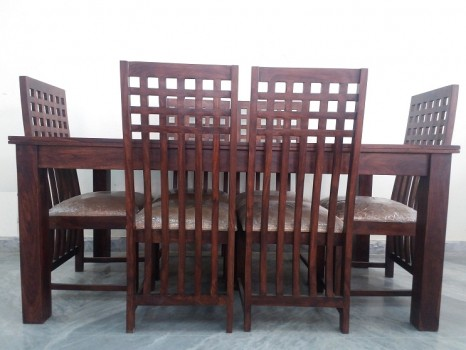 Used Sheesham 6 Chair Dining Table