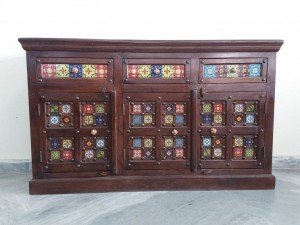 used Sheesham Wood Side Board 2