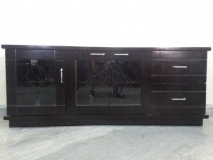 used Low Height TV Cabinet Glass top