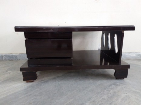 used Glass Top Wooden Center Table