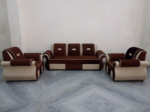 used 5 Seat Fabric & Leather Sofa