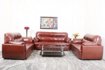 used 7 Seater Leather Sofa