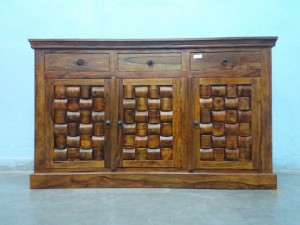 used Solid Wood Brick Side Board
