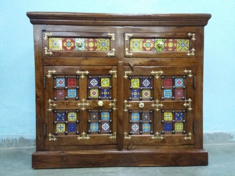 used Colorful Solid Wood Side Board