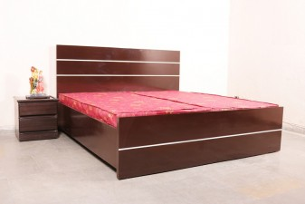 used Plain Brown Bed with Mattress