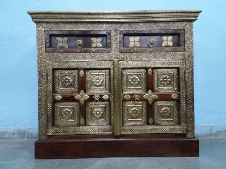used Solid Wood Brass Fitted Chest