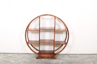 used Round Solid Wood Book Rack