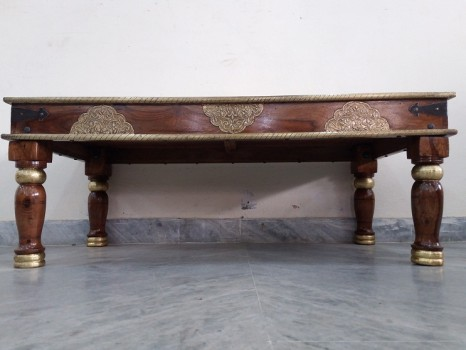 used Brass & Tile Fitted Center Table