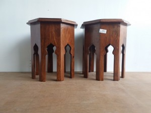 used Tile Fitted Octo Stool Pair