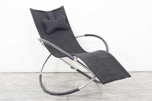 used Steel & Fabric Rocking Chair