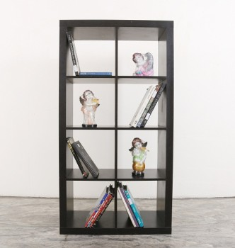 used Black Wooden Book Shelf