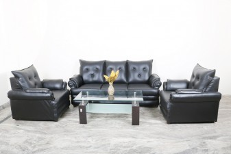 used 5 Seater Black Sofa