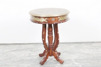 used Round Brass Side Table