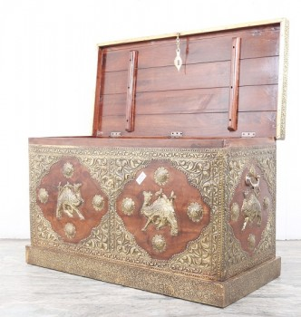 used Camel Brass Fitted Trunk