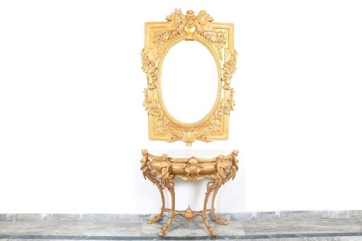used Golden Mirror Console