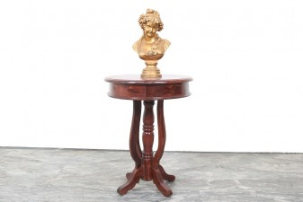 used Solid Wood Side Table Round