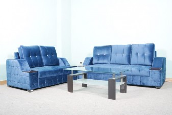used 5 Seater Blue Lawson Sofa