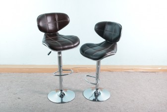 used Leather & Steel Bar Chair