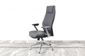 used Black Leather Boss Chair